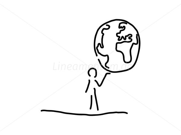 Weltkugel Schwarz Weiß : mann traegt welt weltkugel globus ~ A.2002-acura-tl-radio.info Haus und Dekorationen