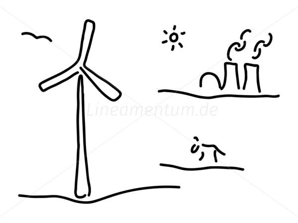 Windrad vektor