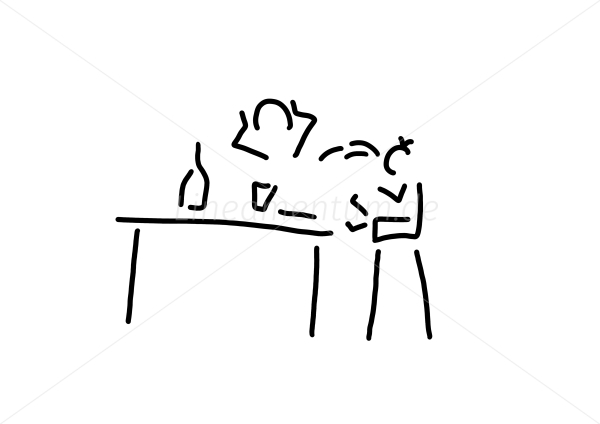 Familie Alltag Und Essen Kind Beim Erbrechen Am Tisch Ferdinand