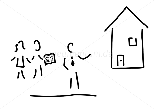 Lineamentum illustration strichm nnchen strichzeichnung for Makler immobilien