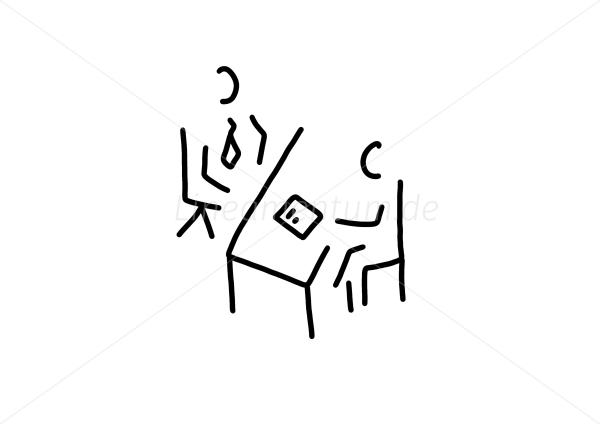 mann bei vorstellungsgesprch und bewerbung ber illustration source - Bewerbung Vorstellungsgesprch