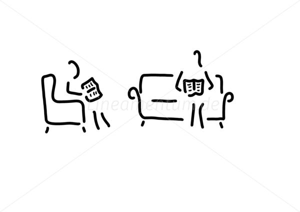 Sofa gezeichnet  Familie, Alltag und Essen - lesen wohnzimmer sofa - Ferdinand ...
