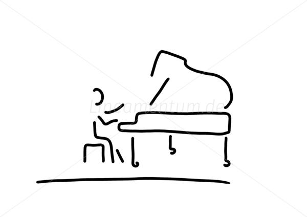 pianist am klavier klavierspielen
