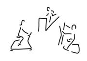 fitness ergometer crosstrainer laufband sport. Black Bedroom Furniture Sets. Home Design Ideas